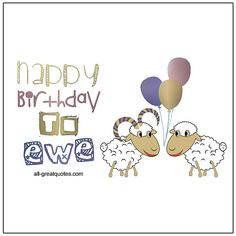 Happy Birthday To Ewe   all-greatquotes.com #HappyBirthday #Funny #Humor