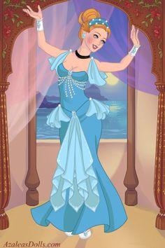 Cinderella - Belly Dancer by tinaalsgirl ~ Azalea's Dress Up Dolls Disney Dolls, Disney Princesses, Disney Characters, Disney Princess Art, Disney Art, Disney Dragon, Male Mermaid, Azalea Dress Up, My Little Pony Princess