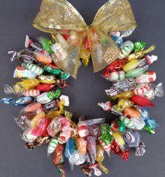 Candy Wreath Kids Birthday Party Small by CandyWreathsbyCarla