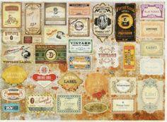 Rice Paper for Decoupage Decopatch Scrapbook Craft Sheet Retro Labels in Crafts, Multi-Purpose Craft Supplies, Crafting Paper, Decoupage Tissue Paper   eBay