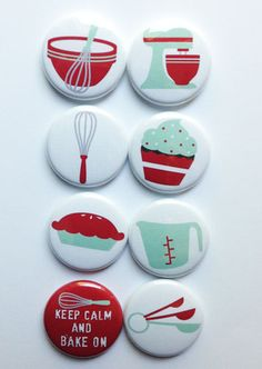 These are one inch flair buttons. There are 8 buttons in this set. Button Maker, Red Turquoise, Button Badge, Pin And Patches, Cute Pins, Pin Badges, Fan Art, Craft Tutorials, Diy For Kids