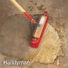 Clean Garage Floors - Remove Oil Stains From Concrete - Step by Step | The Family Handyman