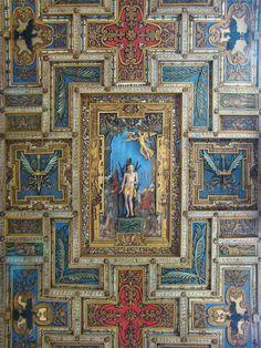 Ceiling of Basilica San Sebastiano fuori le mura, Rome. Photo courtesy of tango7174.
