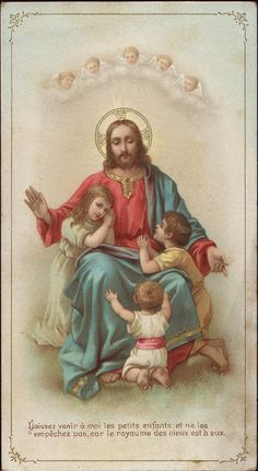 Holy Cards for Children: Jesus Blessing Children