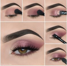 Here we have compiled simple eye makeup tips pictures. They can help you become an eye makeup expert. You can also easily get the perfect eye makeup. Makeup Eye Looks, Eye Makeup Steps, Eye Makeup Art, Beautiful Eye Makeup, Simple Eye Makeup, Smokey Eye Makeup, Eyeshadow Makeup, Easy Makeup, Makeup Ideas