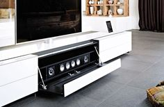Tv Wall Decor, Audio Room, Speaker Stands, Tv Cabinets, Home Entertainment, Tv Unit, Contemporary, House, Hifi Speakers