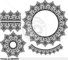 Set of vector lace elements