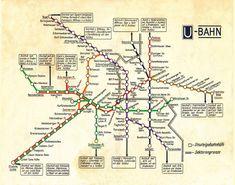 Vintage U-Bahn Karte