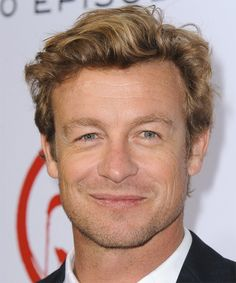 Simon Baker of The Mentalist. His hairstyle is even perfect.