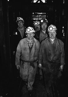 End of the struggle: NUM members prepare to return to work in March 1985, at Mardy Colliery, South Wales at the end of the year long pit str...