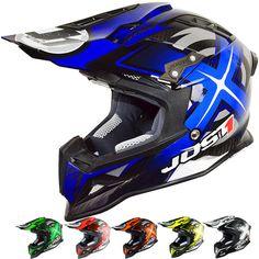JUST 1 J12 Mister X Carbon Mens Off Road Dirt Bike Motocross Helmets