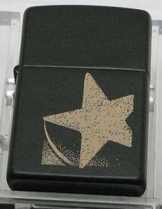 Older 1998 Zippo Lighter Large Star Design Never Fueled or Fired In The Box