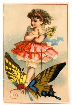 Darling fairy on a butterfly - 1 of 1000s of free images from The Graphics Fairy!