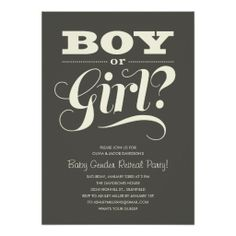 Baby Reveal Party Invitations