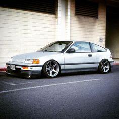 #Honda #Civic_CRX #Stance #Slammed #JDM....Always liked the CRX