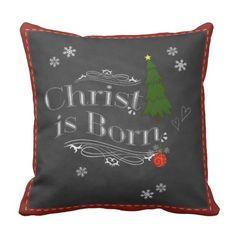 Christ is Born Pillow