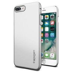 Köp Spigen iPhone 7 Plus Case Thin Fit Satin Silver online: http://www.phonelife.se/spigen-iphone-7-plus-case-thin-fit-satin-silver