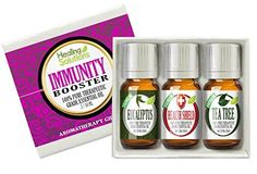 Immunity Booster Set 100% Pure, Best Therapeutic Grade Essential Oil Kit - 3/10mL (Eucalyptus, Health Shield (Based on Four Thieves), and Tea Tree) ** More infor at the link of image  : ginger essential oil