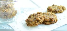 Coconut and Date cookies - One Handed Cooks - like bliss balls but cooked - dates, rolled oats, coconut, banana Lunch Box Recipes, Baby Food Recipes, Baking Recipes, Sweet Recipes, Whole Food Recipes, Snack Recipes, Toddler Recipes, Lunchbox Ideas, Yummy Recipes