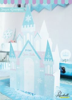 Frozen Centerpiece for Frozen Birthday Party. by Popobell on Etsy