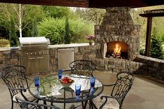 Great outdoor kitchens and barbeque designs   Backyard Kitchen areas   Big Sky Landscaping