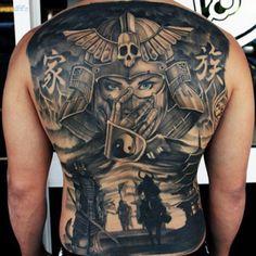 Back Tattoos For Men - Warrior