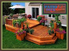 Decks Patio Deck Designs Backyard Backyard Patio The Complete Guide About Multi Level Decks With 27 Design Ideas Two Tier Decks Decks By Size 2 Level Decks Deck Two Tier Deck Traditional Deck Toronto By Castlewood Two Tiered Deck. Backyard Patio Designs, Backyard Landscaping, Patio Ideas, Back Yard Deck Ideas, Back Deck Designs, Pergola Designs, Wood Deck Designs, Porch Ideas, Pergola Kits
