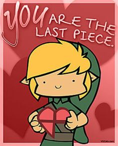 Valentine Link *OMGosh I think I just fell in love with Zelda*  So So So Cute! <3