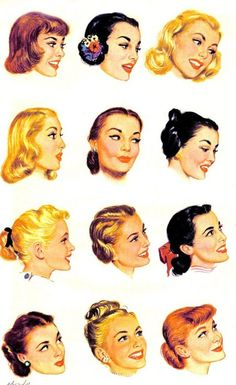1950s Hairstyles men with long hair in 1950s A Few Cute And Simple Hair Style To Compliment Your 1940s Or 50s Style Vivien Of
