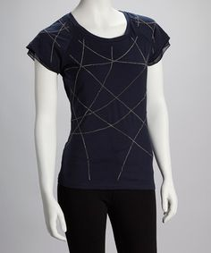 Take a look at this Navy Chain Top by YAL on #zulily today!