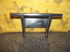 Primitive Wood Shelf   Distressed Navy Blue   Country Decor #NaivePrimitive