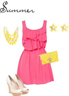 Sunny Days of Summer, created by sweetmel17 on Polyvore#Repin By:Pinterest++ for iPad#