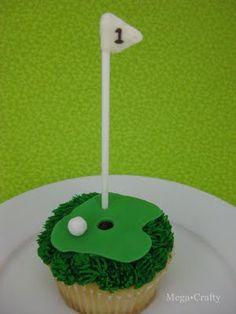 Golf Cupcake - Mikey's bday
