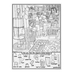 Friends Hidden Objects Puzzle Print