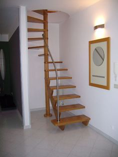home stairs design ideas can attract the eyes. Choose between an art gallery, unique runner, and vintage design for your stairs. Spiral Stairs Design, Small Staircase, Tiny House Stairs, Tiny House Loft, Home Stairs Design, Loft Stairs, Bungalow House Design, Interior Stairs, Spiral Staircase