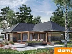 DOM.PL™ - Projekt domu AN TYMOTEUSZ G2 CE - DOM AO10-56 - gotowy koszt budowy Cabin, House Styles, Outdoor Decor, Home Decor, Cabins, Cottage, Interior Design, Home Interior Design, Wooden Houses