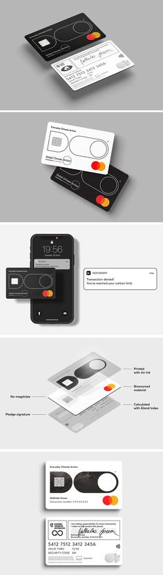 This credit card also tracks your carbon footprint along with your payments – Yanko Design – Form Beyond Function - Responsible Black Pigment, Lighting Concepts, Yanko Design, Plastic Card, Carbon Footprint, Stuff To Do, Inventions, No Response, Track