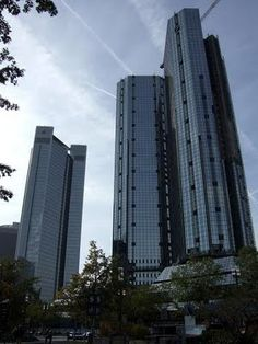 The Financial District in Frankfurt
