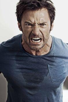 Hugh Jackman: Wolverine looks ridiculous Hugh Jackman, Hugh Michael Jackman, Human Reference, Anatomy Reference, Face Men, Male Face, Hugh Wolverine, Facial Expressions Drawing, Expressions Photography