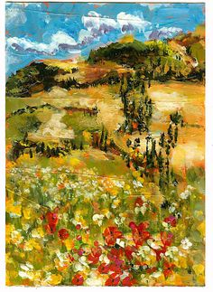 Italian Countryside by Martha Lever   Love her expressive style!!!!