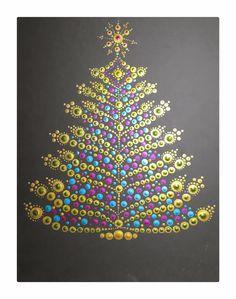 Dot Art Painting, Rock Painting Designs, Mandala Painting, Stone Painting, Christmas Mandala, Christmas Rock, Mandala Dots, Mandala Design, Rock Crafts