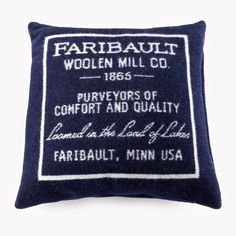 Faribault Logo Wool Pillow Case