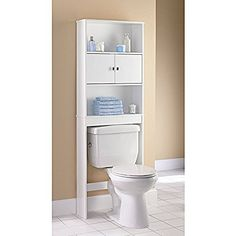 White Over Toilet E Saver Storage Bathroom Organizer Shelves Bath Towel