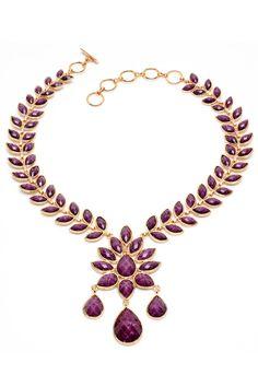 Necklace In Amethyst.