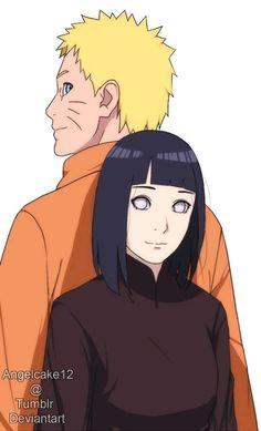 Uzumaki Naruto and Hyuuga Hinata. Anime Naruto, Naruto Uzumaki Shippuden, Naruto Cute, Hinata Hyuga, Naruto And Sasuke, Sasuke Sarutobi, Uzumaki Family, Naruto Family, Naruto Couples