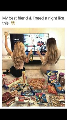 Funny, movie, and who: tag a bff who needs a movie night like