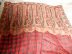 antique French paisley & tartan shawl suitable for a wide range of uses, unusual