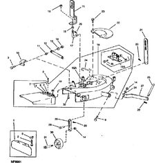108 Cub Cadet Wiring Diagram John Deere Complete Mower Deck For Lt Series John Deere