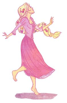 started miss Tangled so here is Rapunzel.I just saw so many similar drawing of Rapunzel with lanters-painting the walls and stuff that I j. I've got a dream