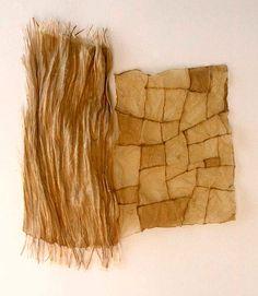 Folio Series: Life Study #3, 1996. Flax paper, linen thread. Susan Warner Keene